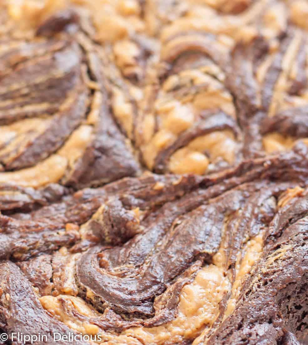 Gluten free peanut butter brownies rock my world...because peanut butter + chocolate = ♥️♥️♥️♥️♥️