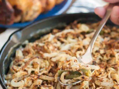 Gluten Free Vegan Green Bean Casserole