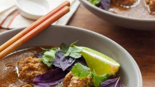 Gluten Free Asian Meatball Soup