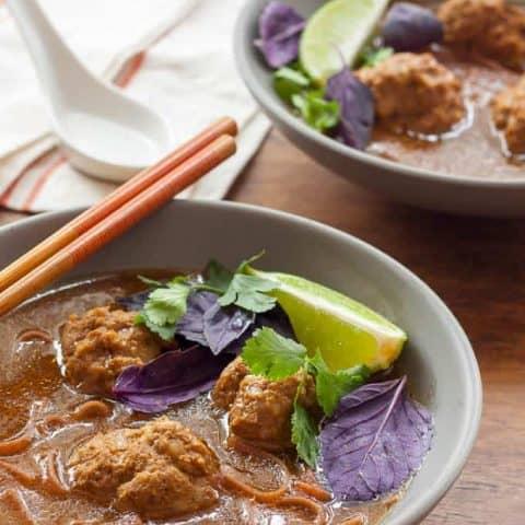 Gluten Free Asian Meatball Soup