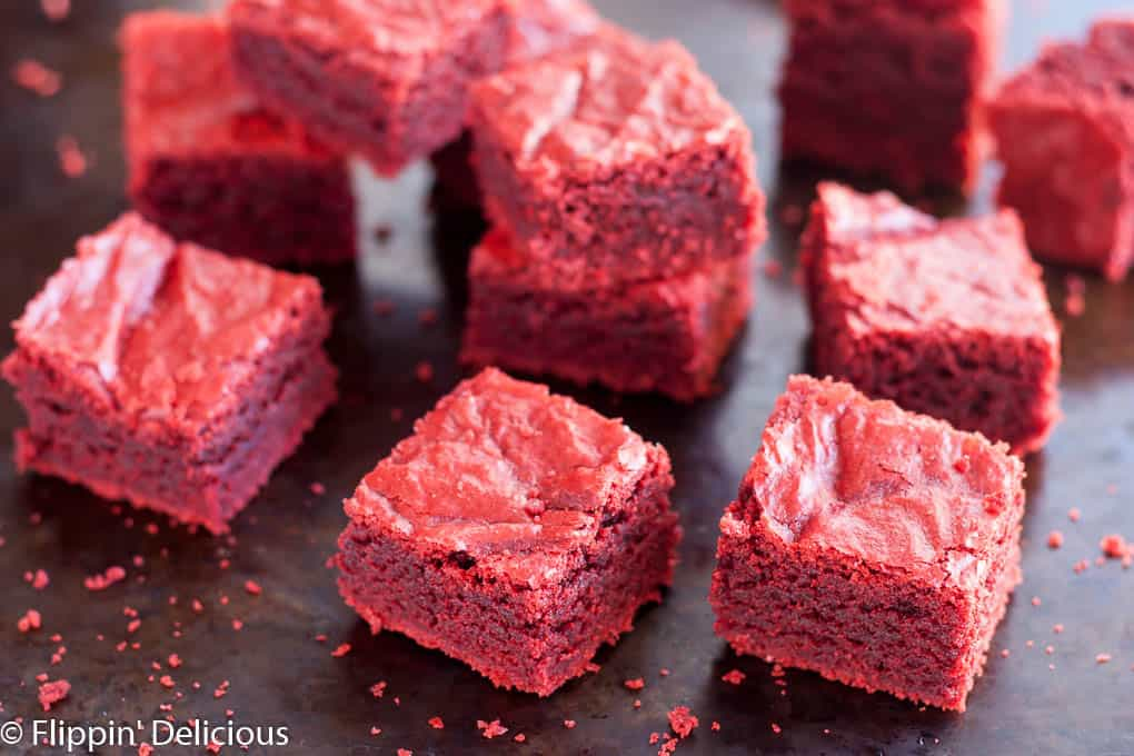 Gluten Free Red Velvet Brownies (dairy free, too) are chewy and fudgy ...