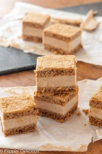 Vegan Snickerdoodle Blondie Ice Cream Sandwiches