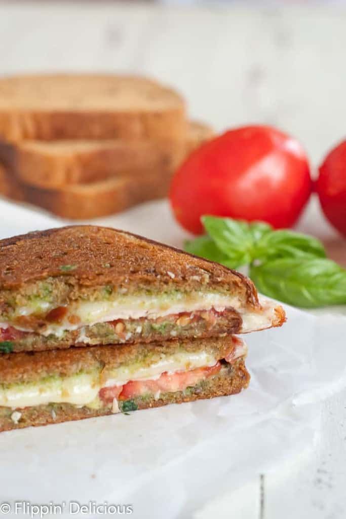 Gluten Free Caprese Panini has all the flavors of your favorite summer salad between two slices of golden, butter, gluten free bread.