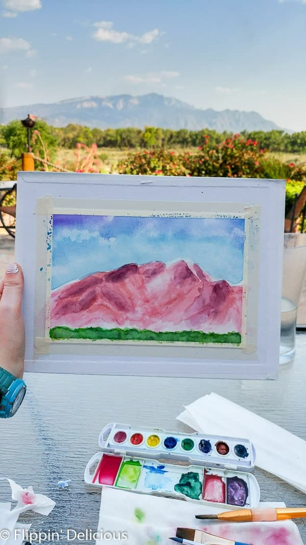 Wine and Watercolor at the Tamaya