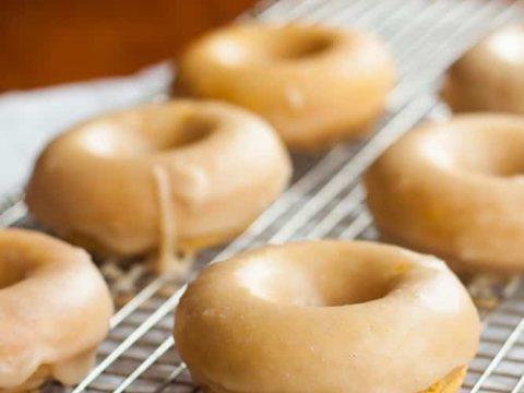 Gluten-Free Pumpkin Donuts with Maple Glaze