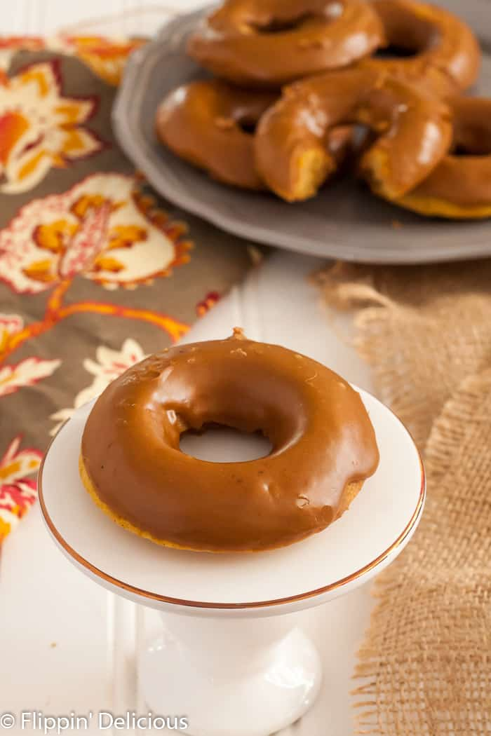 Gluten-Free pumpkin spice latte donuts are a sweet & festive way to kick-start a fall morning.