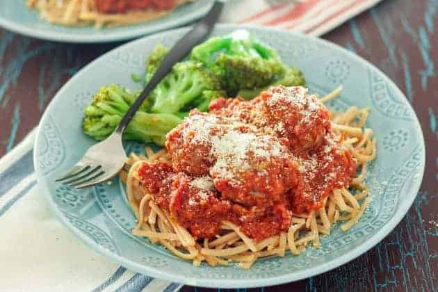 Gluten free instant pot meatballs are great for an easy weeknight meal. They also freeze beautifully, making this a fantastic make-ahead meal.