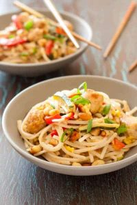 Gluten-free Pad Thai has a light, zesty sauce. It's a quick, ethnic weeknight meal.