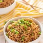 Gluten Free Sticky Garlic Noodles Recipe