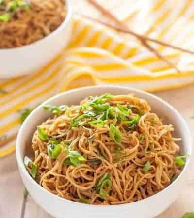 Gluten free sticky garlic noodles are so good that you'll be licking your bowl. Plus, they come together in just 15 minutes!
