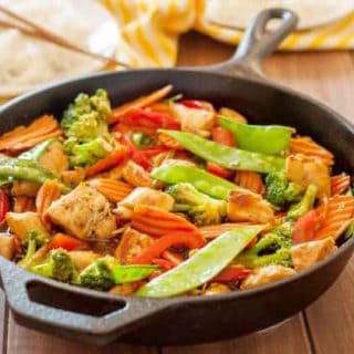This gluten-free stir fry will be cooked and ready to eat faster than you could imagine. This is such a crowd pleaser, and you won't find yourself with leftovers!