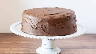 Gluten Free Yellow Cake with Chocolate Fudge Frosting