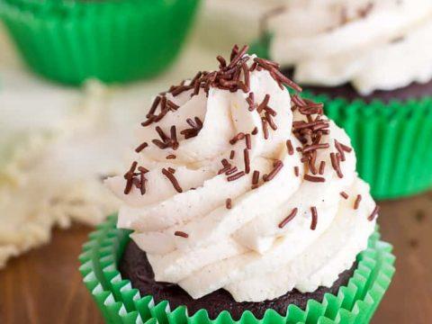 Gluten Free Irish Cream Cupcakes