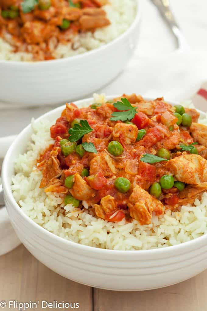 No-fuss Instant Pot Chicken Tikka Masala is a breeze to make on a busy weeknight. Naturally gluten free and dairy free, the entire family will enjoy it!