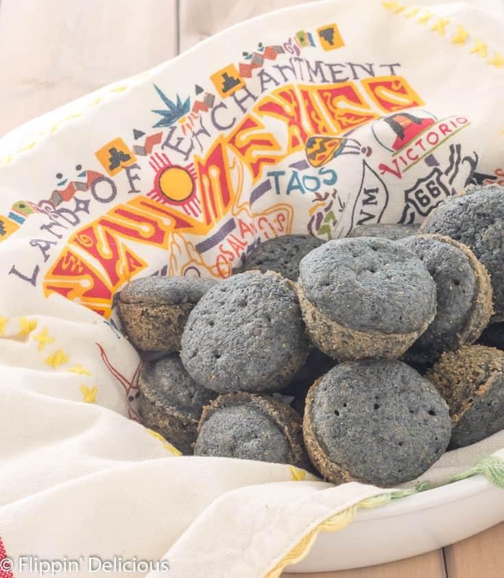 Easy gluten free blue corn muffins are sweet, tender, with a golden crust. Made WITHOUT all-purpose gluten free flour , and there is a dairy free option..