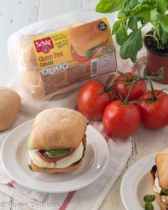 Grilled Chicken Caprese Sandwiches- Gluten Free