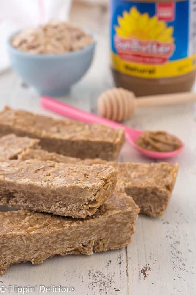 Gluten Free Sunbutter Honey Granola Bars