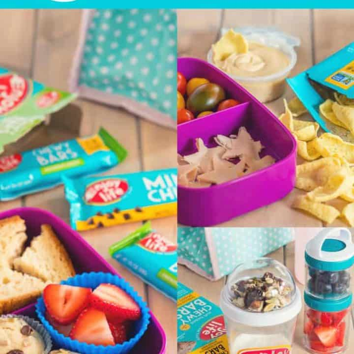 6 allergy free lunch ideas with collage of three nut free lunch box ideas