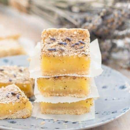 Gluten Free Lavender Lemon Bars Recipe