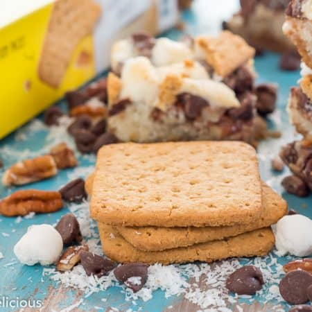 Gluten free magic cookie bars with marshmallows