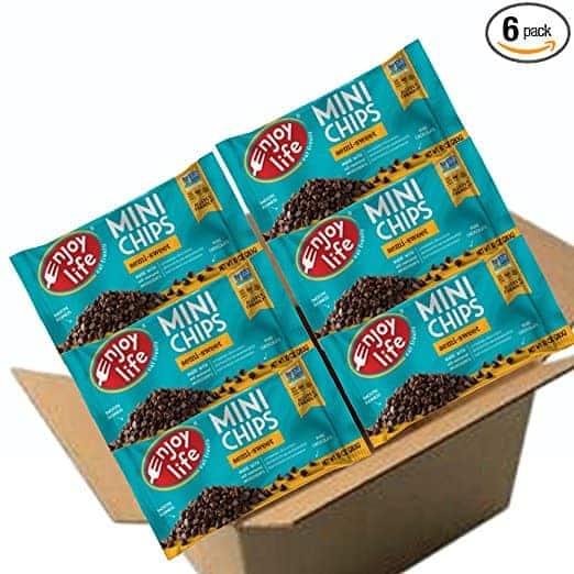 Enjoy Life Semi Sweet Mini Chips, 10 Ounce Bags (Pack of 6)
