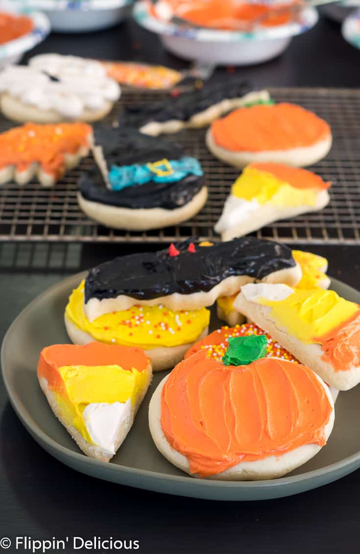 gluten free halloween sugar cookies -