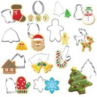 12pcs/set Cookie Cutter, JDgoods DIY Baking Pastry Tool Stainless Steel Cutters Cakes Cake Mold Pastry Tools for Christmas Style -Christmas tree/Snowman / Deer/Sled / Sock/Candy