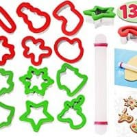 13 Pieces Stainless Steel Christmas Cookie Cutters with Comfort Grip 3.5