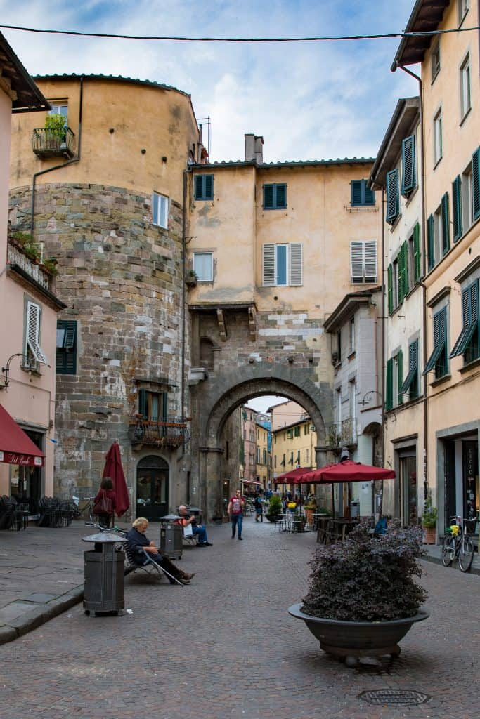 street in Lucca, Italy