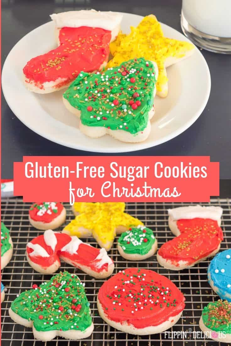 EASY gluten free sugar cookie cutouts for Christmas| NO-CHILL gluten free sugar cookie dough with tips to get the perfect gluten free soft sugar cookie cutouts. #glutenfree #glutenfreerecipes #glutenfreecookies #glutenfreesugarcookies #glutenfreechristmascookies #glutenfreeholidaycookies #christmascookies #holidaycookies #sugarcookies #easysugarcookies