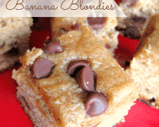 Gluten free Peanut Butter Banana Blondies