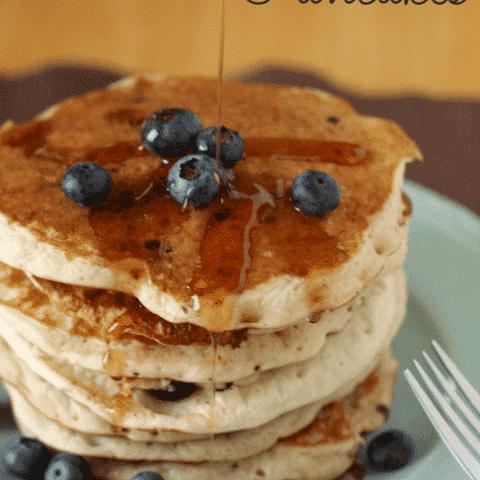Gluten Free Blueberry Banana Pancakes