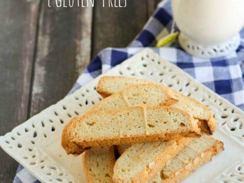 Gluten free Chamomile Vanilla Almond Biscotti
