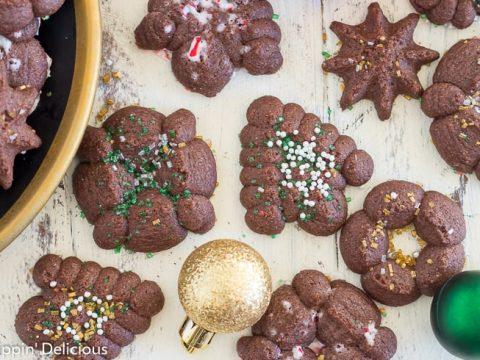 Gluten Free Chocolate Spritz Cookies Recipe