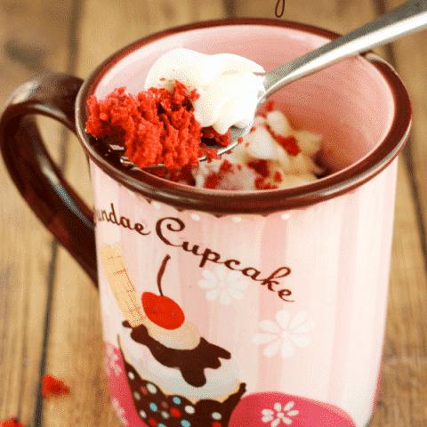 Gluten-Free Red Velvet Mug Cake