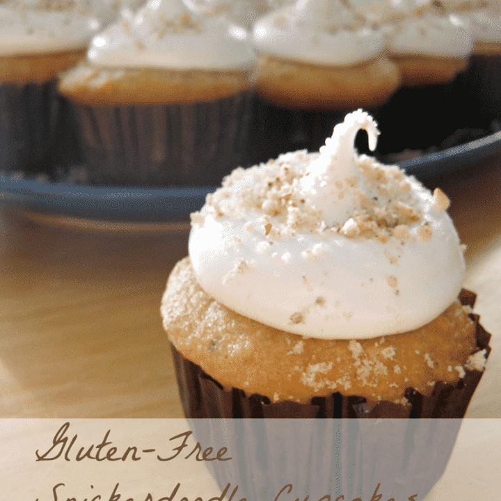 Gluten Free Hazelnut Snickerdoodle Cupcakes