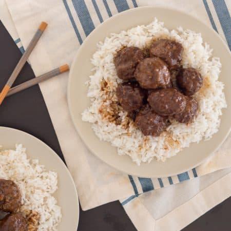 Instant Pot Gluten Free Teriyaki Meatballs