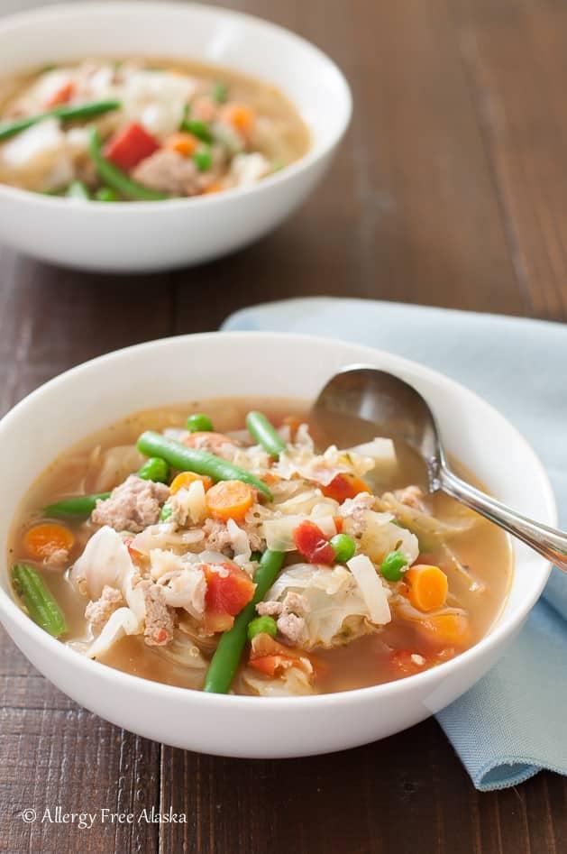 Ground Turkey and Garden Veggie Soup with Quinoa
