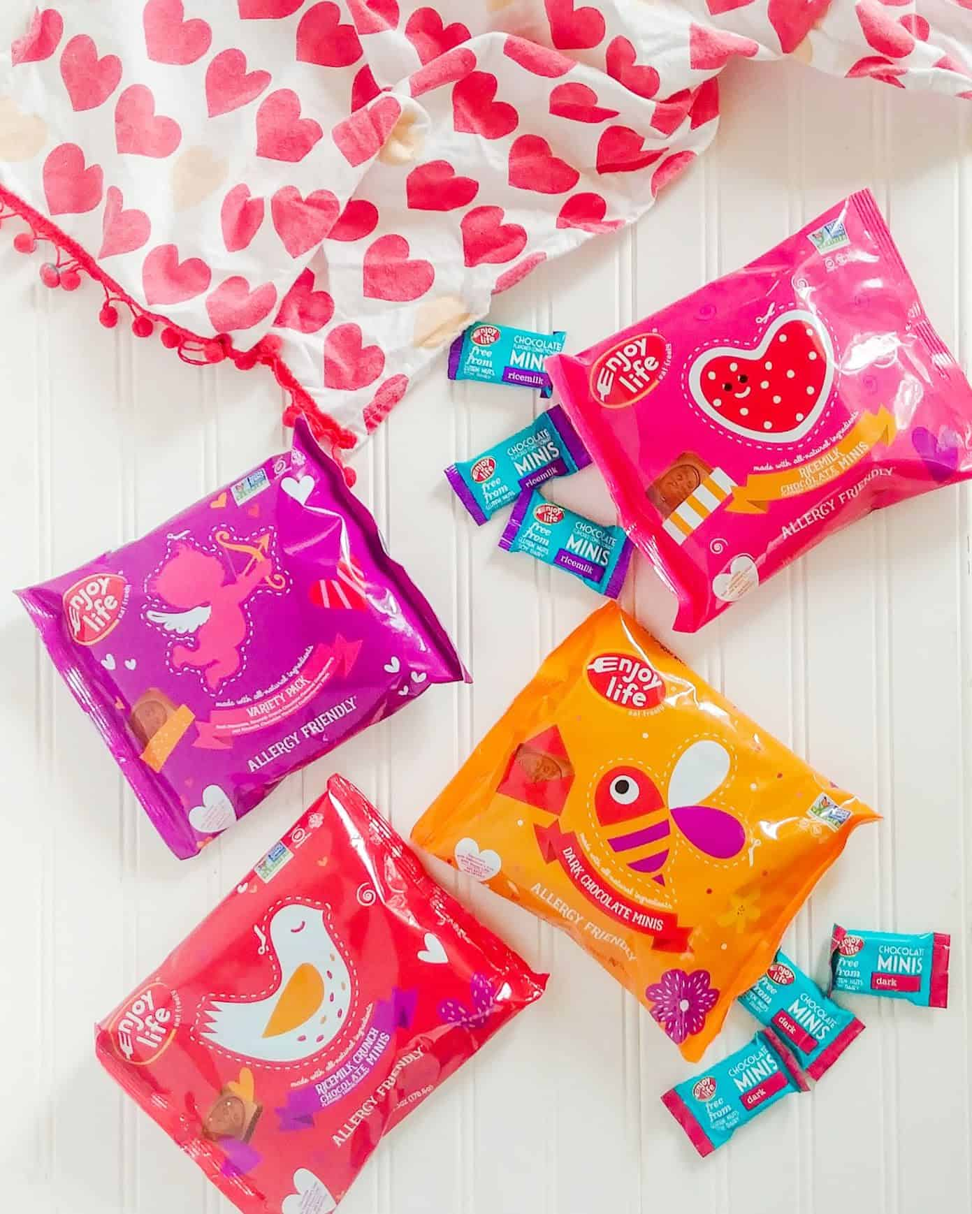 enjoy life foods vegan Valentine's day chocolate minis in packaging