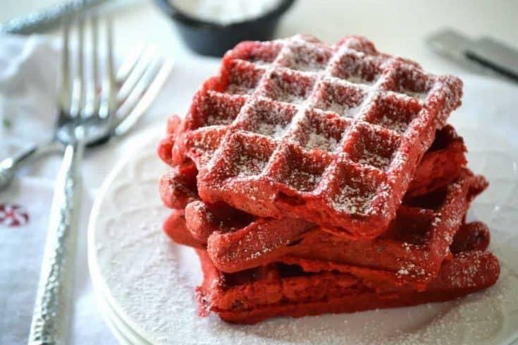 Gluten free Red Velvet Waffles