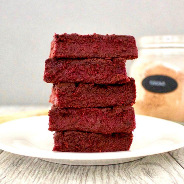 No-Dye gluten free Red Velvet Brownies