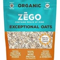 ZEGO Foods Exceptional Oats, Organic, Vegan, Gluten Free, Raw, High Protein, 12oz