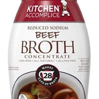 Kitchen Accomplice Reduced Sodium Beef Style Broth Concentrate, 12 Ounce