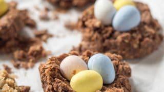 Gluten Free Vegan Chocolate Birds Nest Cookies