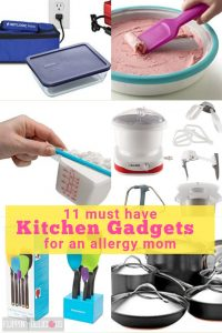 11 must have kitchen gadgets for an allergy mom. Perfect online shopping ideas for Mother's Day Gifts and Holiday Gifts for Mom. flippindelicious.com #mothersday #mothersdaygift #foodallergies