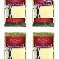Vegan Creamy Vanilla Pudding by Vivian's Live Again 4pk Dairy Free Soy Free Gluten Free