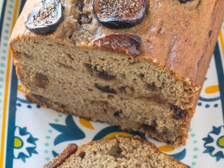 Gluten Free Banana Bread with Figs