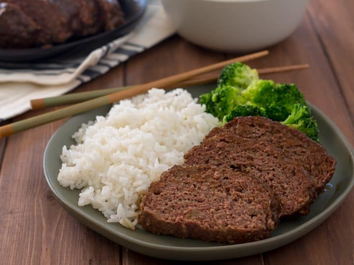 gluteInstant Pot Gluten Free Teriyaki Meatloaf is a quick comfort food dinner the entire family will love. Cooking your meatloaf in an Instant Pot helps it stay juicy!n free teriyaki meatloaf cooked in an instant pot sliced on a green plate