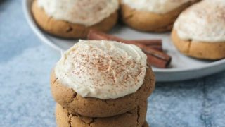 Soft Baked Vegan Pumpkin Cookies with Maple Frosting