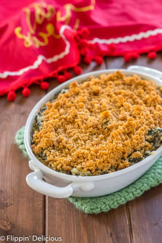 gluten free baked spinach artichoke dip